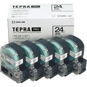 (業務用5セット) キングジム テプラ PROテープ/ラベルライター用テープ 【幅:24mm】 5個入り ST24K-5P 透明 送料込!