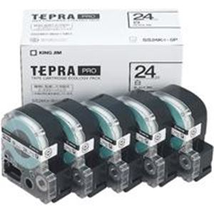 (業務用5セット) キングジム テプラ PROテープ/ラベルライター用テープ 【幅:24mm】 5個入り SS24K-5P ホワイト(白) 送料込!