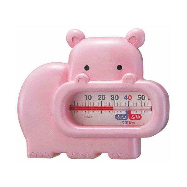 激安お風呂に浮かんだ動物が快適なお湯加減をお知らせしてくれます♪ EMPEX 浮型 湯温計 うきうきトリオ カバ TG-5133 ピンク 送料込!