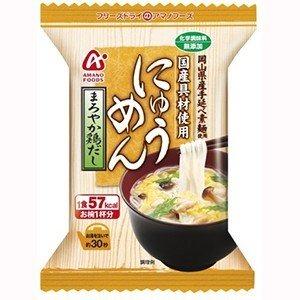 【まとめ買い】アマノフーズ にゅうめん まろやか鶏だし 15g(フリーズドライ) 48個(1ケース) !