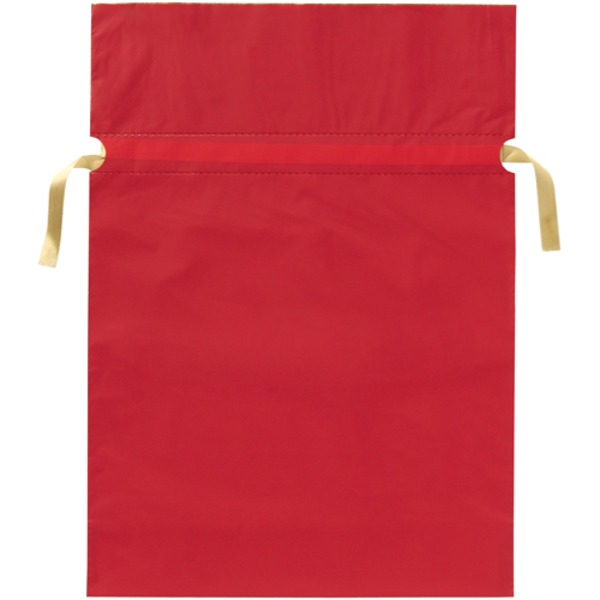 (業務用20セット) カクケイ 梨地リボン付き巾着袋 赤 L 20枚FK2402 送料込!