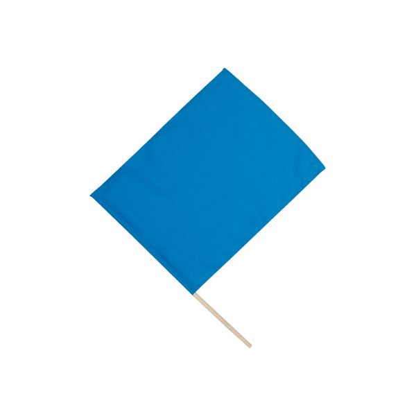 (まとめ)アーテック 旗/フラッグ 【小】 410×300mm ポリエステル・綿製 ブルー(青) 【×40セット】 送料込!