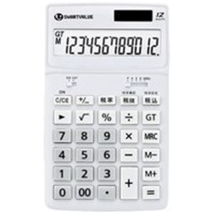 (業務用10セット) ジョインテックス 小型電卓 ホワイト5台 K072J-5 送料込!