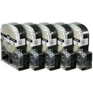 (業務用5セット) キングジム テプラ PROテープ/ラベルライター用テープ 【幅:12mm】 5個入り ロングタイプ SS12KL-5 ホワイト(白) 送料込!