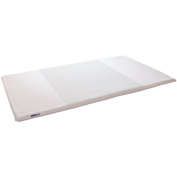 高反発マットレス/寝具 【ダブルサイズ ホワイト】 三つ折り 洗える 『キュービックボディプレミアム』 送料込!