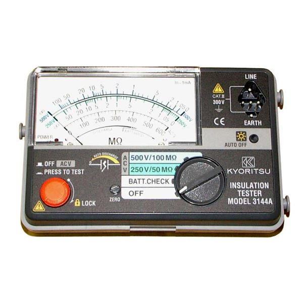 共立電気計器 キューメグ 2レンジ小型絶縁抵抗計 3144A【代引不可】 送料無料!
