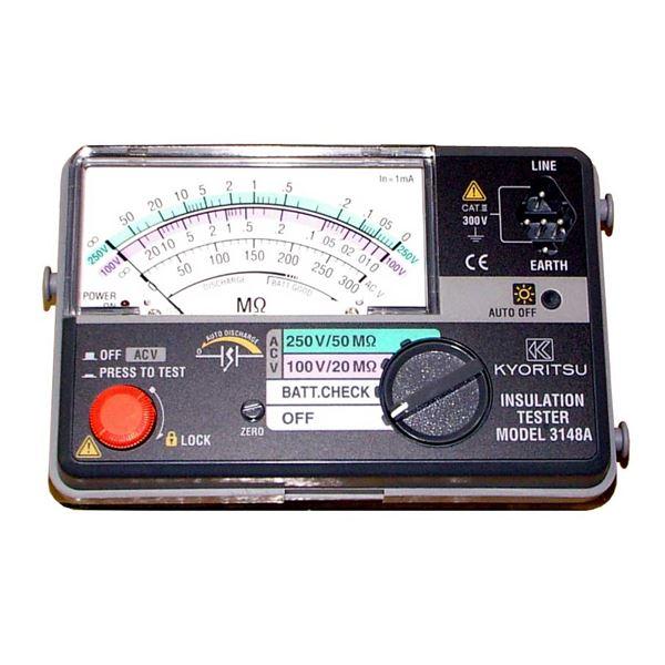 共立電気計器 キューメグ 2レンジ小型絶縁抵抗計 3148A【代引不可】 送料無料!