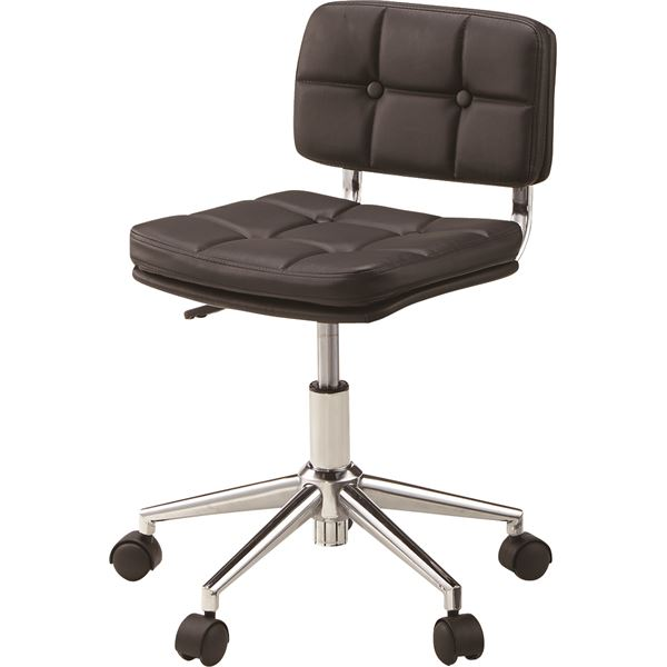 (2脚セット)東谷 デスクチェア(椅子) 昇降機能付き スチール/ソフトレザー/合皮 RKC-301BK ブラック(黒) 送料込!