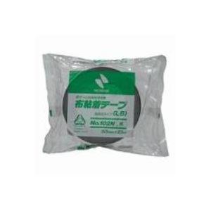 (業務用100セット) ニチバン カラー布テープ 102N-50 50mm×25m 黒 送料込!