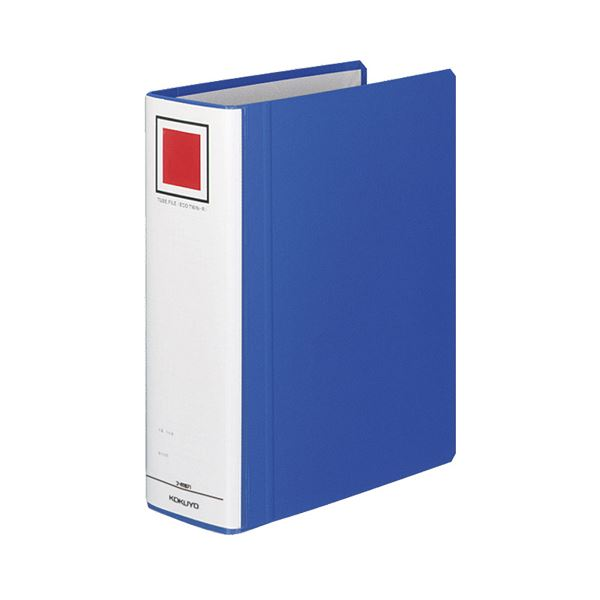 (まとめ) コクヨ チューブファイル(エコツインR) B5タテ 700枚収容 背幅85mm 青 フ-RT671B 1冊 【×10セット】 送料無料!