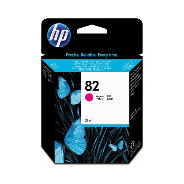 (まとめ) HP82 インクカートリッジ マゼンタ 28ml 染料系 CH567A 1個 【×3セット】 送料無料!