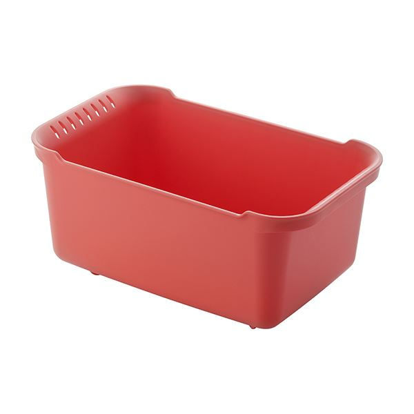 【12セット】 ウォッシュタブ/洗い桶 【レッド】 36×22×16.5cm 本体:PP 『リベラリスタ』【代引不可】 送料無料!