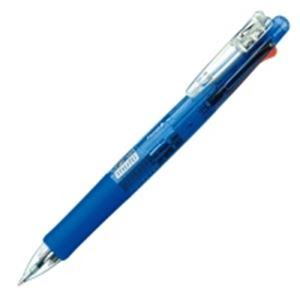 (業務用100セット) ZEBRA ゼブラ 多機能ペン クリップオンマルチ 【シャープ芯径0.5mm/ボール径0.7mm】 ノック式 B4SA1-BL 青 送料込!