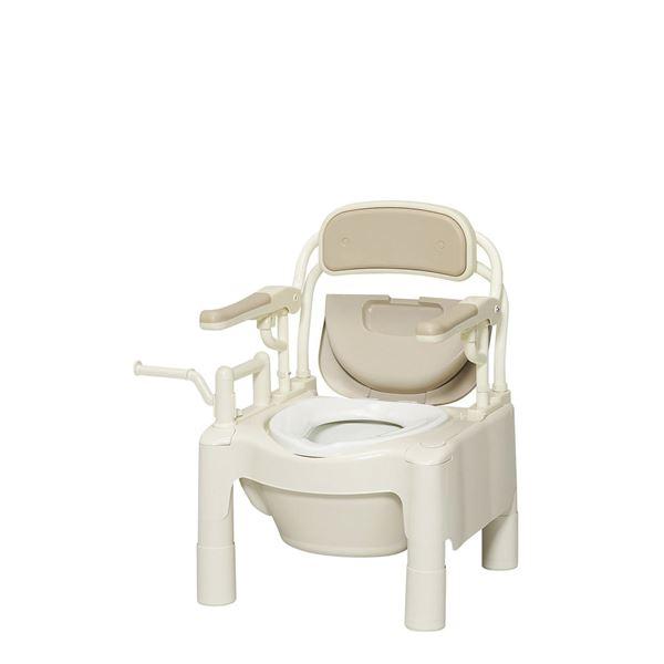 アロン化成 樹脂製ポータブルトイレ ポータブルトイレFX-CP はねあげ 534-500 534-500 送料込!