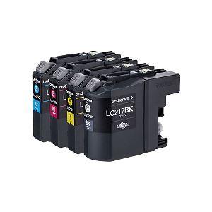 ブラザー工業 インクカートリッジ大容量タイプ お徳用4色パック LC217/215-4PK 送料込!