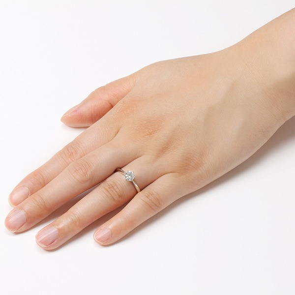 ダイヤモンド ブライダル リング プラチナ Pt900 0.3ct ダイヤ指輪 Dカラー SI2 Excellent EXハート&キューピット エクセレント 鑑定書付き 12.5号 !