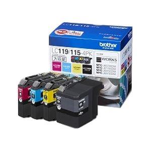 ブラザー工業 インクカートリッジ大容量タイプ お徳用4色パック LC119/1154PK 送料無料!