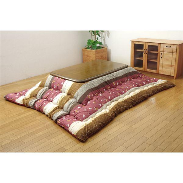 和柄 こたつ布団 長方形特大 掛け単品 『こよみ』 ローズ 約205×315cm 送料込!