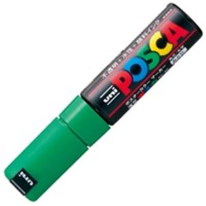 (業務用200セット) 三菱鉛筆 ポスカ/POP用マーカー 【太字/緑】 水性インク PC-8K.6 送料込!
