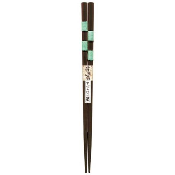 日本製 Japan 若狭 田中箸店 きらめき グリーン 22.5cm 061153