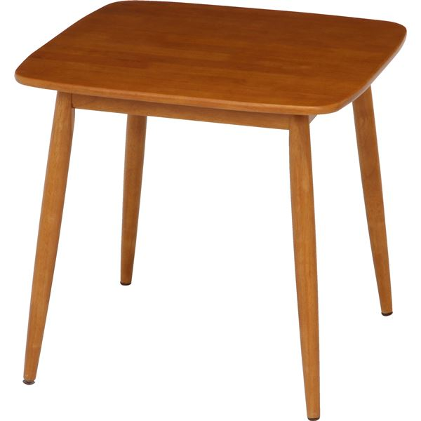 ダイニングテーブル/リビングテーブル 単品 【ブラウン】 幅75cm 木製 『クラム』【代引不可】 送料込!