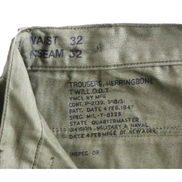 アメリカ軍M47ヘリボーンベーカーパンツレプリカ オリーブ 30(76cm) 送料込!