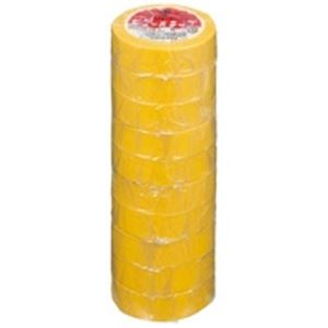 (業務用50セット) ヤマト ビニールテープ/粘着テープ 【19mm×10m/黄】 10巻入り NO200-19 送料込!