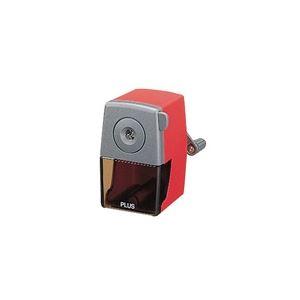 (業務用30セット) プラス 鉛筆削り 手動式 FS-150 レッド 送料込!