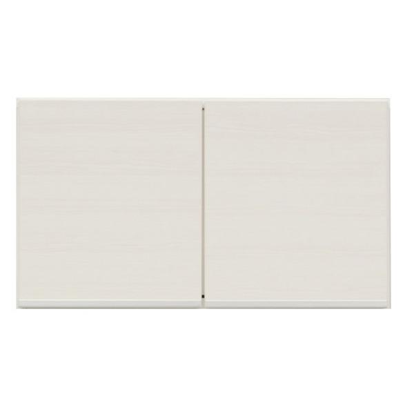 上置き(ダイニングボード/レンジボード用戸棚) 幅75cm 日本製 ホワイト(白) 【完成品】【開梱設置】【代引不可】 送料込!