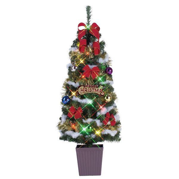 クリスマスツリー/オブジェ 【マルチ】 120cmサイズ 『ポットツリー』 〔イベント パーティー〕 送料込!