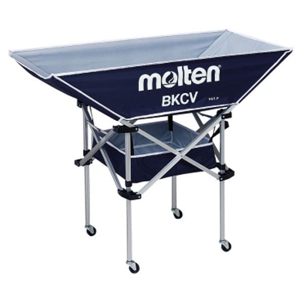 モルテン(Molten) 折りたたみ式平型軽量ボールカゴ(背高) ネイビー BKCVHNV 送料込!