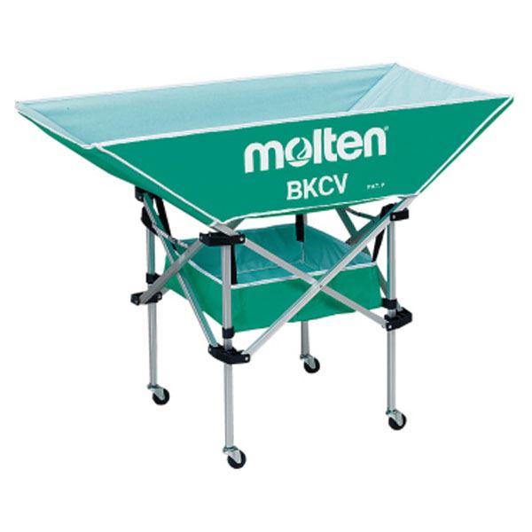 モルテン(Molten) 折りたたみ式平型軽量ボールカゴ(背低) 緑 BKCVLG 送料無料!