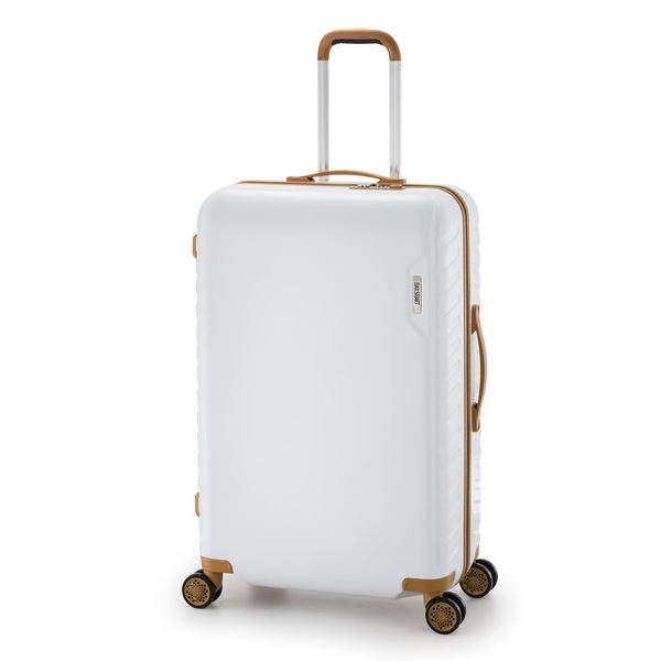 スーツケース/キャリーバッグ 【ホワイト】 90L 手荷物預け無料最大サイズ ダイヤル式 アジア・ラゲージ 『MAX SMART』 送料込!