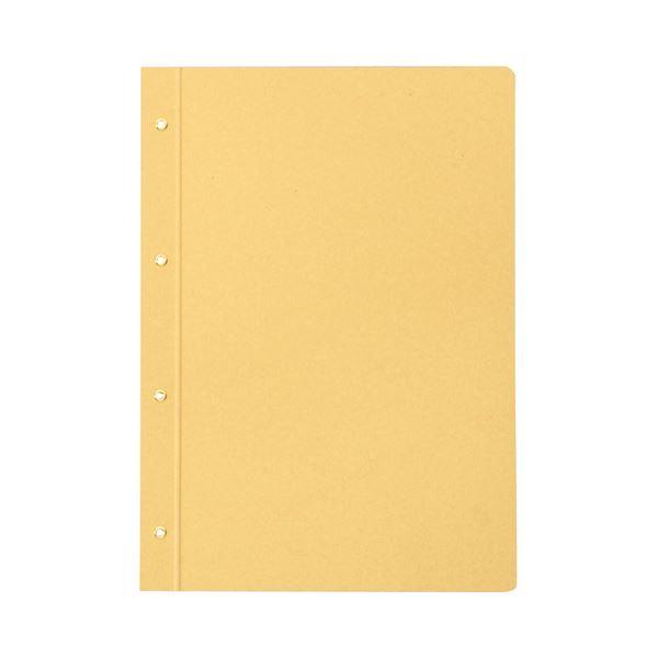 (まとめ) TANOSEE とじ込表紙 クラフト紙 A4タテ 4穴 1セット(25組50枚:5組10枚×5パック) 【×3セット】 送料込!
