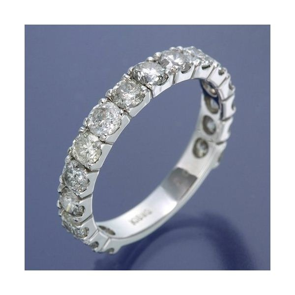 K18WG ダイヤリング 指輪 2ctエタニティリング 18号 送料無料!