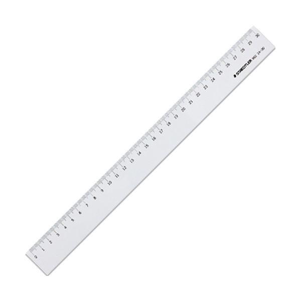 (まとめ) ステッドラー 直線定規 片側目盛り付き30cm 962 24-30 1個 【×50セット】 送料無料!