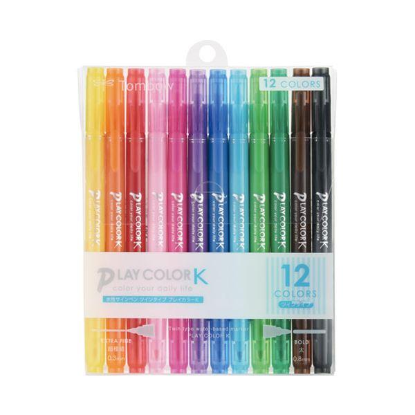 (まとめ) トンボ鉛筆 プレイカラーK 12色セット GCF-011【×10セット】 送料無料!
