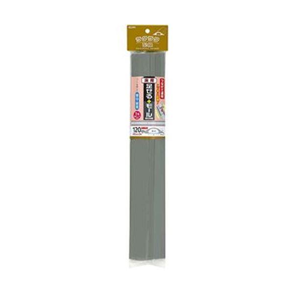 (まとめ)ELPA 足せるモール 床用1号40cm テープ付 グレー PSM-U140P3(GY)1パック(3本)【×10セット】 送料無料!