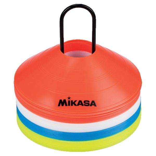 MIKASA(ミカサ)器具 マーカーコーン(4色×10枚セット) 【CO40MINI】 送料込!