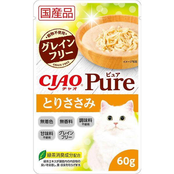 (まとめ)CIAO Pureパウチ とりささみ 60g (ペット用品・猫フード)【×96セット】 送料無料!