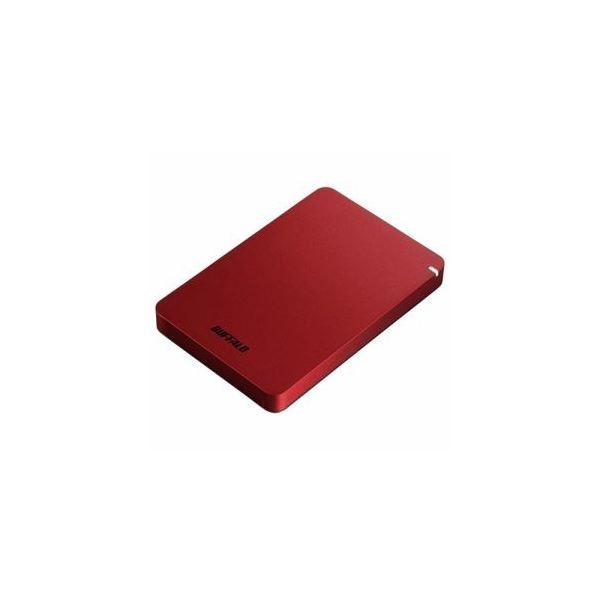BUFFALO ポータブルHDD レッド 1TB HD-PGF1.0U3-RDA 送料無料!