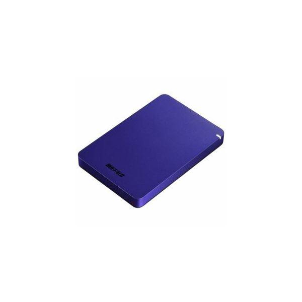 BUFFALO ポータブルHDD ブルー 1TB HD-PGF1.0U3-BLA 送料無料!