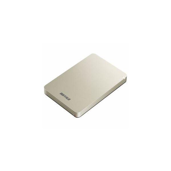 BUFFALO ポータブルHDD ゴールド 1TB HD-PGF1.0U3-GLA 送料無料!