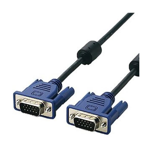 (まとめ)エレコム RoHS準拠D-sub15ピン(ミニ)ケーブル ブラック 1.0m CAC-10BK/RS 1本【×10セット】 送料無料!