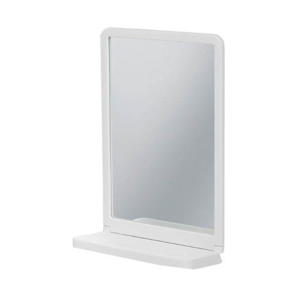 飛散防止加工鏡 洗面所 送料込! 壁掛け鏡/スリムサニタリーミラー 幅20cm】 【薄型 小物ラック付き 浴室 【24個セット】
