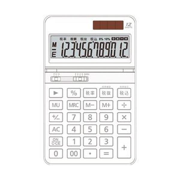 (まとめ)AURORA 中型電卓 12桁卓上タイプ ホワイト DT700TXW 1セット(3台)【×5セット】 送料無料!