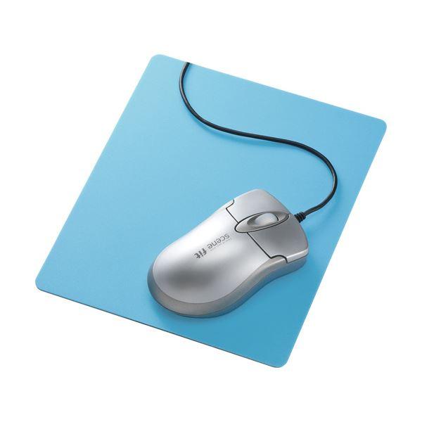 (まとめ) サンワサプライ ずれないマウスパッド ブルー MPD-NS1BL 1枚 【×10セット】 送料無料!