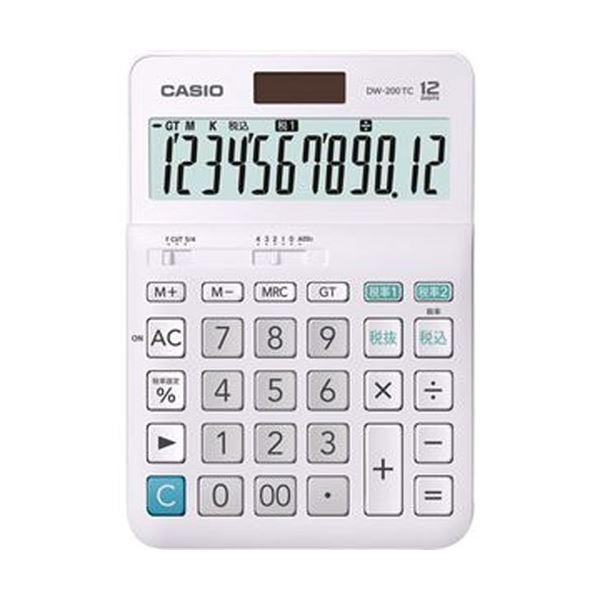 (まとめ)カシオ W税率電卓 12桁 デスクタイプDW-200TC-N 1台【×5セット】 送料無料!