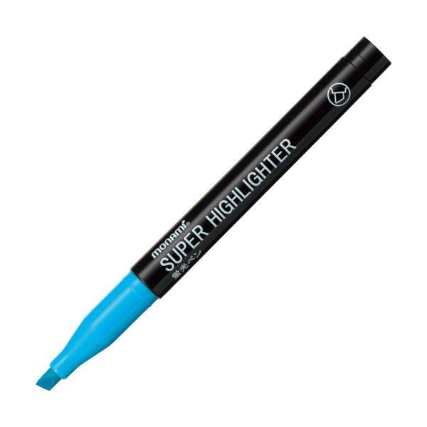 (まとめ) モナミ 蛍光ペン SUPERHIGHLIGHTER 水色 18405 1本 【×300セット】 送料無料!