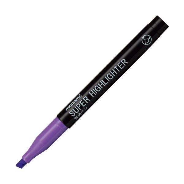 (まとめ) モナミ 蛍光ペン SUPERHIGHLIGHTER 紫 18406 1本 【×300セット】 送料無料!